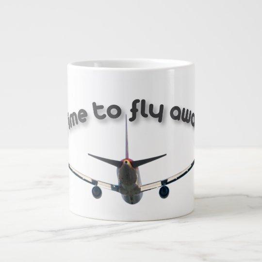 Time to fly away giant coffee mug