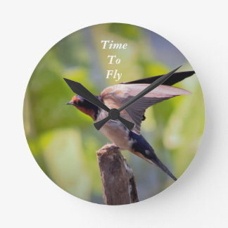 Time to Fly Bird Clock