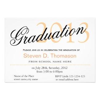Time to fly classic,stylish graduation announcment custom invitations