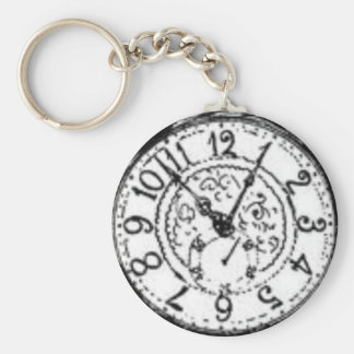 Time to get a watch basic round button keychain