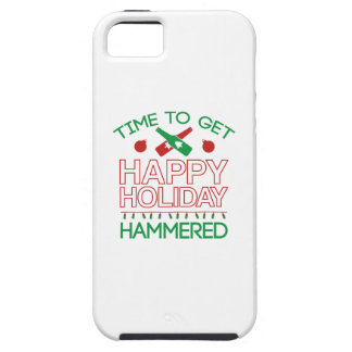 Time To Get Happy Holiday Hammered iPhone SE/5/5s Case