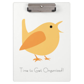 Time to Get Organized Bird Clip Board