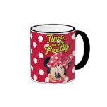 Time to Get Pretty Ringer Coffee Mug