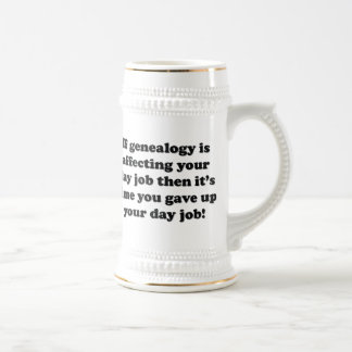 Time To Give Up Day Job 18 Oz Beer Stein