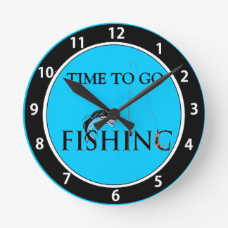 Time to go fishing round clock