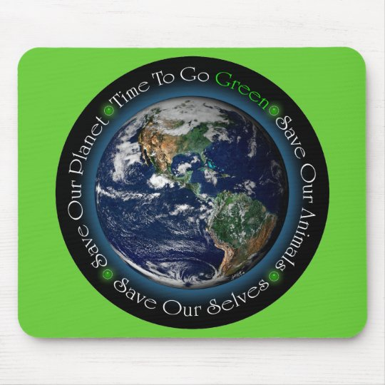 Time To Go Green Mousepad