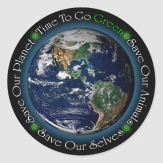 Time To Go Green Sticker