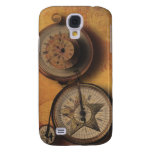 Time to Go Steampunk Clock on Victorian Bicycle Galaxy S4 Cover