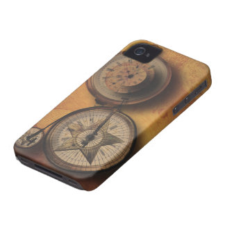 Time to Go Steampunk Clock on Victorian Bicycle iPhone 4 Cover