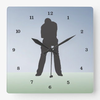 Time to Golf Square Wall Clock