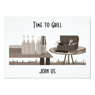 """""""TIME TO GRILL"""" ALL OCCASION INVITATION"""