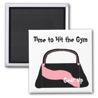 Time to Hit the Gym Fridge Magnet