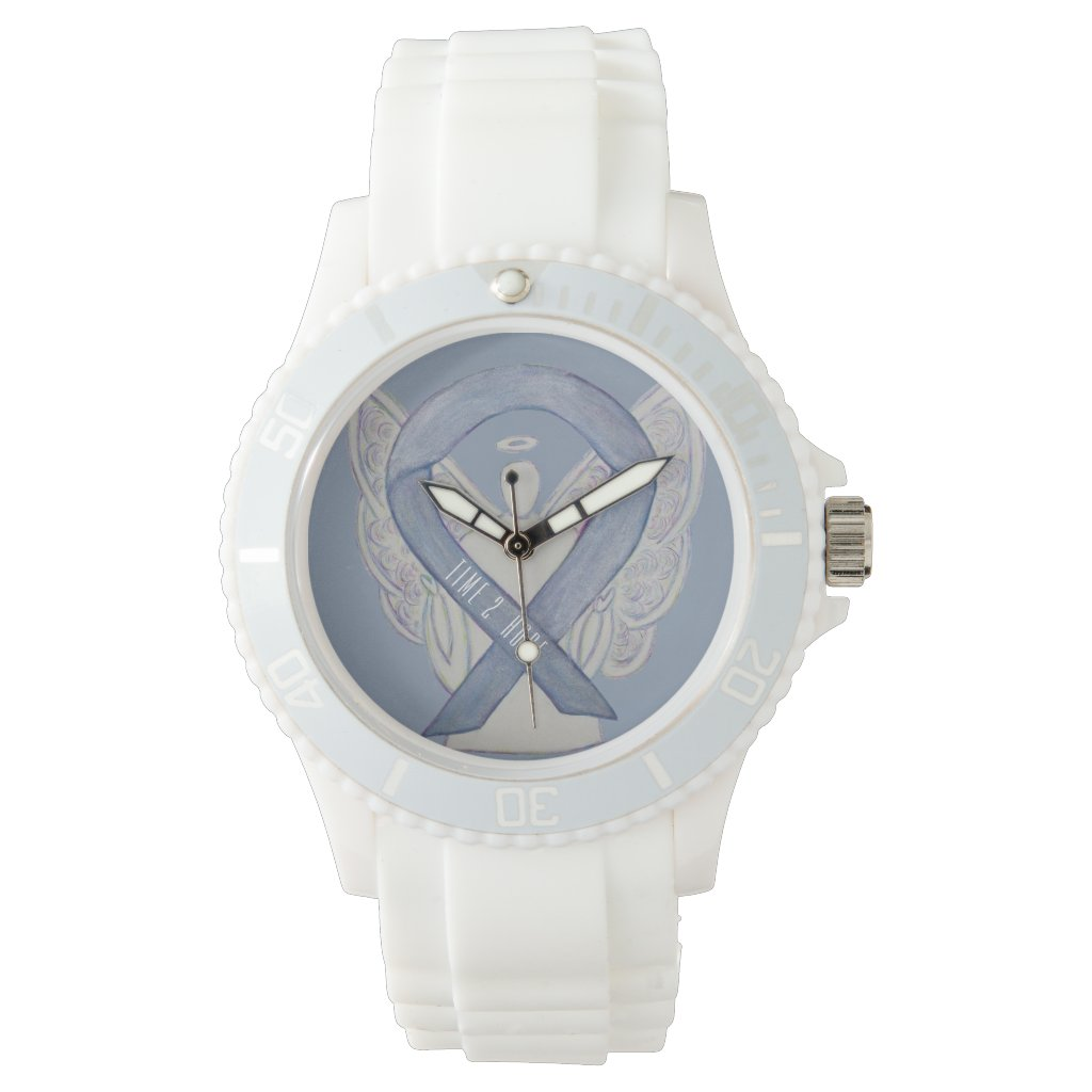 Time to Hope Silver Awareness Ribbon Custom Watch