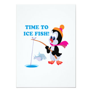 Time To Ice Fish Card