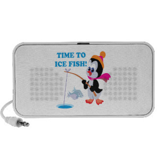 Time To Ice Fish Notebook Speakers