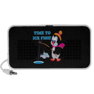 Time To Ice Fish Travelling Speaker