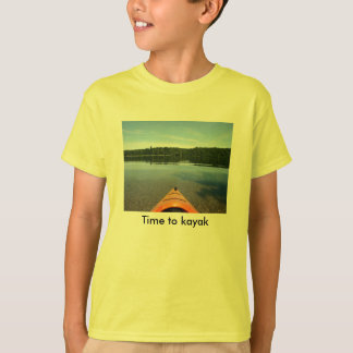 Time to kayak - kids T shirt