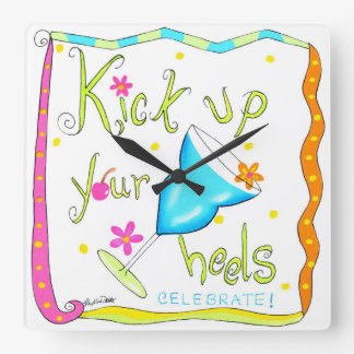 Time to Kick Up Your Heels with this Fun Clock