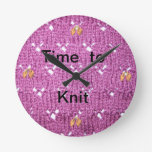 Time To Knit - round clock