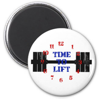 Time To Lift 2 Inch Round Magnet