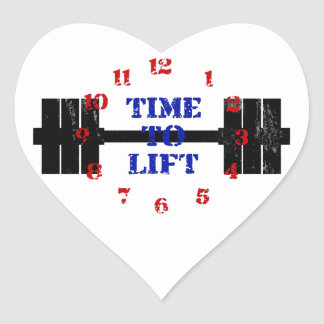 Time To Lift Heart Sticker