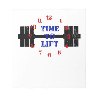 Time To Lift Notepad