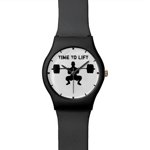 Time To Lift - or Weight Lifting Wristwatch