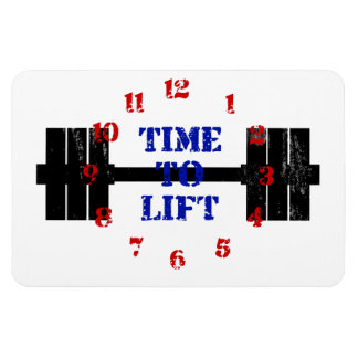 Time To Lift Rectangular Photo Magnet