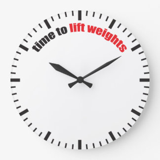 Time To Lift Weights - Gym Motivation Large Clock