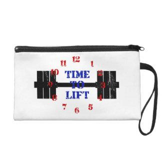 Time To Lift Wristlet Purse