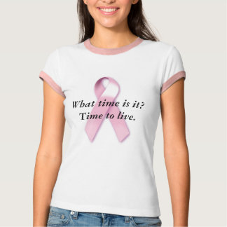 Time to Live Pink Ringer T Shirt