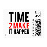 Time to make it happen postage stamp