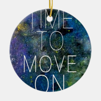 Time to move on - cosmic, night sky with stars ornaments