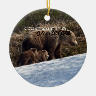 Time To Move On; Customizable Double-Sided Ceramic Round Christmas Ornament