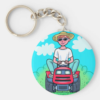 TIme to Mow Keychain