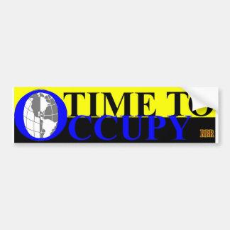 TIME TO OCCUPY2 BUMPER STICKER
