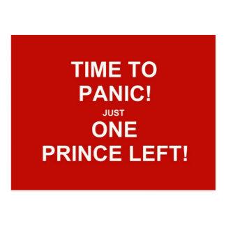 Time to panic! Just one prince left! Postcard