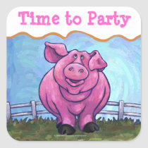 Time to Party Pig Party Envelope Seal