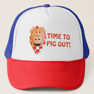 Time To Pig Out Picnic Hog Trucker Hat