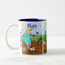 Time to Plant, Grow, Relax - Miss Ruthie Two-Tone Coffee Mug
