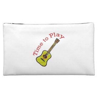 Time to Play Acoustic Guitar - Choose Background Cosmetic Bag