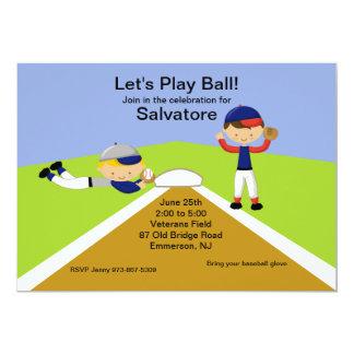 Time To Play Ball! Baseball Birthday Invitation