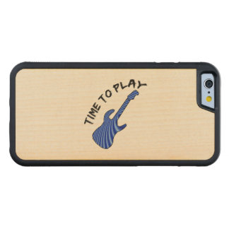 Time To Play Electric Guitar Carved Maple iPhone 6 Bumper Case