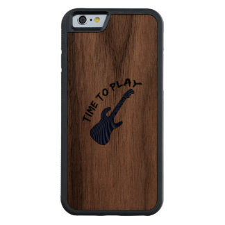 Time To Play Electric Guitar Carved Walnut iPhone 6 Bumper Case