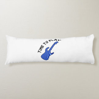 Time To Play Electric Guitar - Custom Background Body Pillow