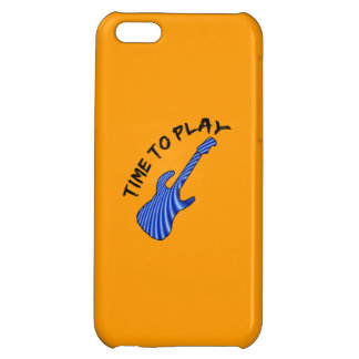 Time To Play Electric Guitar - Orange Background Case For iPhone 5C