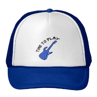 Time To Play Electric Guitar Trucker Hat