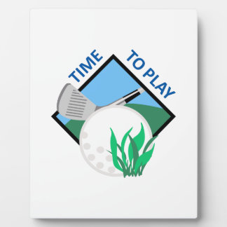 TIME TO PLAY GOLF DISPLAY PLAQUES
