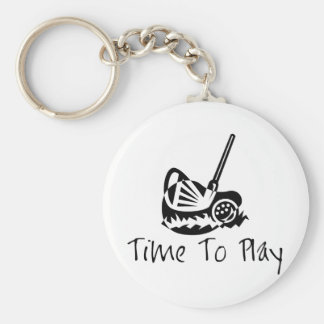 Time to Play Keychain