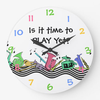 Time to Play Musical Instruments Wallclocks